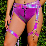 Orchid Opal Crystal O-Ring Garter Belt | MTO