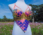 Sunset Dragon Warrior Bra - 34C/36B