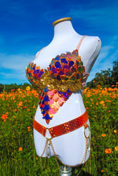 Sunset Dragon Warrior Bra - 34D/36C