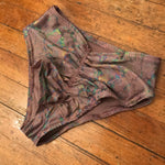 Mauve Celestial Serpents Scrunch Bottoms - S