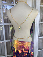 Sunset Dragon Warrior Sequin Maxi Skirt - S/M (adjustable)