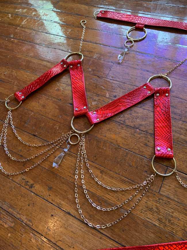 Cherry Bomb Crystal Harness Set