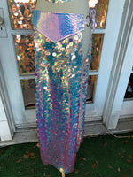 Opal Dragon Warrior Sequin Maxi Skirt - S/M (adjustable)
