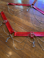Cherry Bombshell Convertible Harness Set