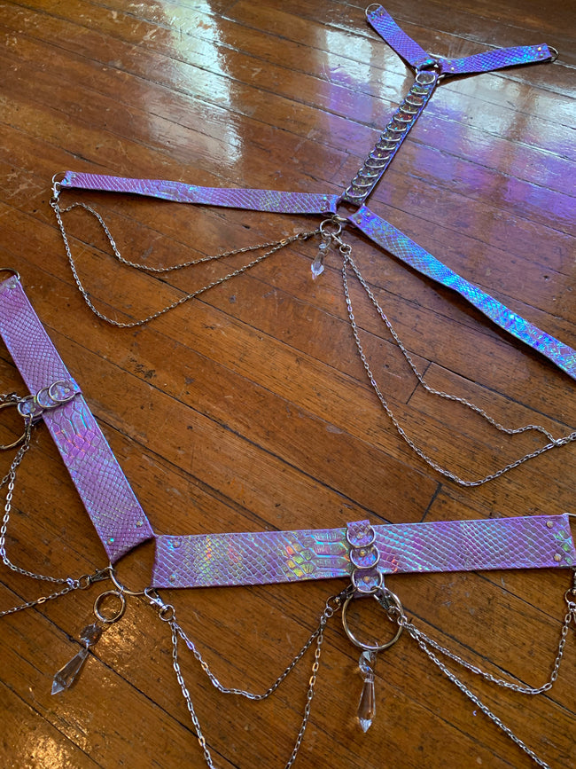 Orchid Opal Bombshell Convertible Harness Set - MTO
