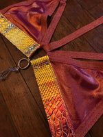 Gilded Raspberry Convertible Harness Triangle Top - M