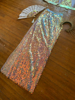 Geo Iridescent Sequin Maxi Skirt