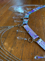 Blue Opal Chandelier Belt