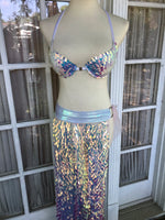 Geometric Sequin Maxi Skirt - S/M