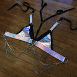 Dark Unicorn Convertible Harness Triangle Top | MTO