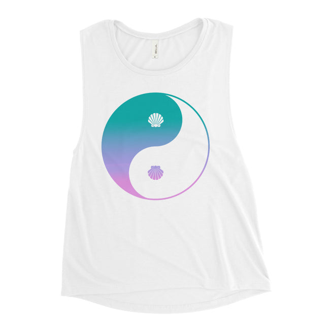 Seashell Yin Yang Ladies' Muscle Tank