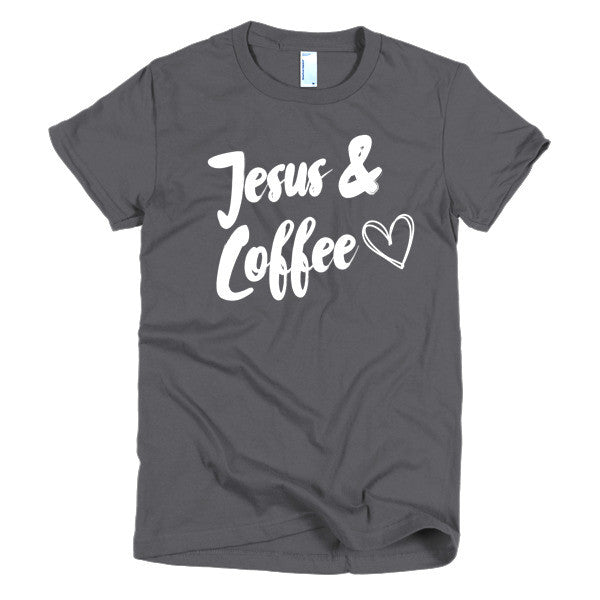 Jesus & Coffee Fitted Tee