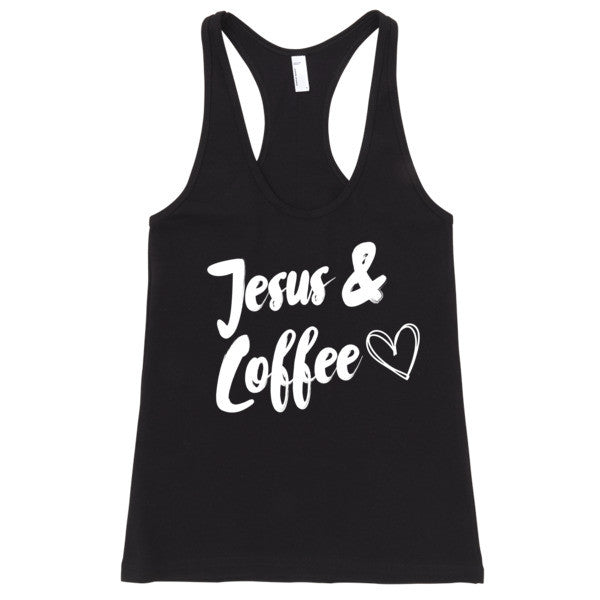 Jesus & Coffee Fitted Tank