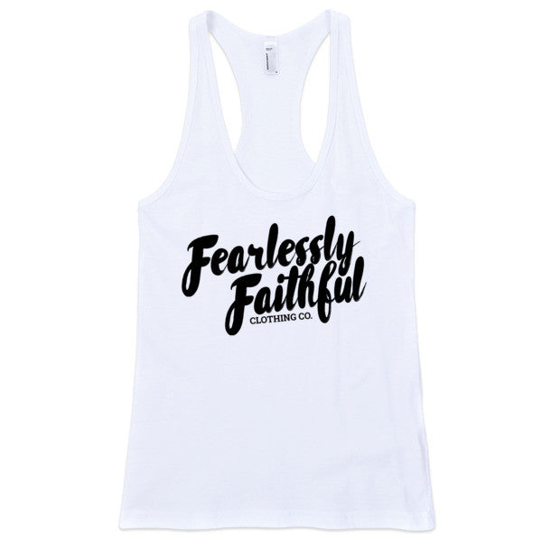 Fearlessly Faithful Fitted Tank