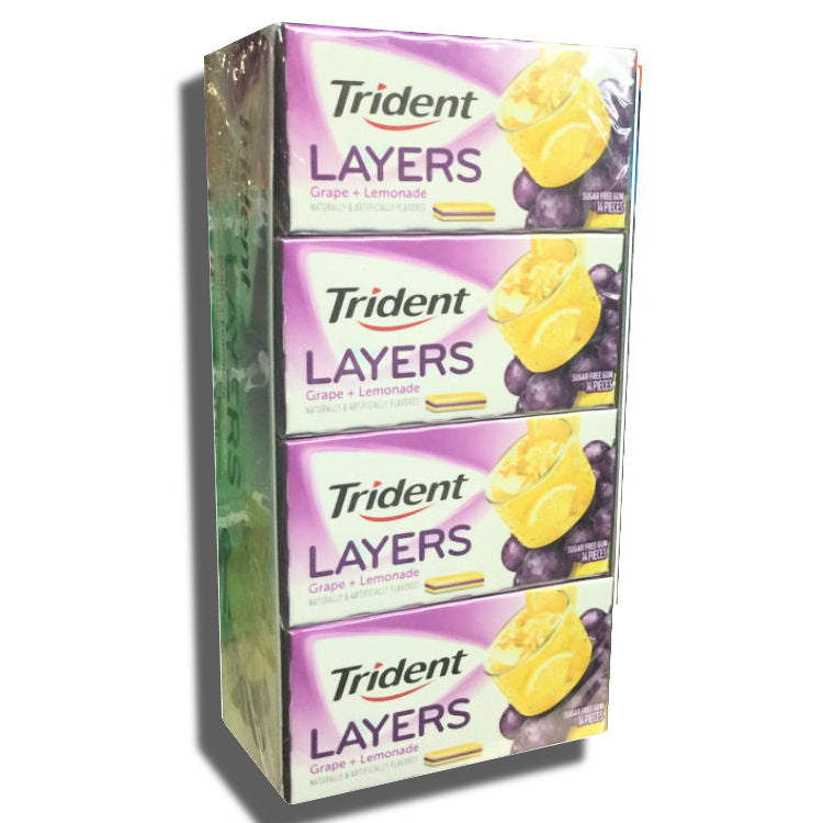 Trident Layers Grape and Lemonade Sugar Free 12Ct Box
