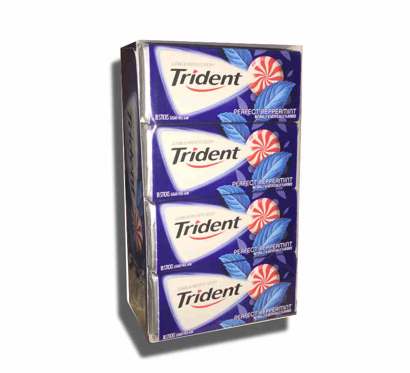 Trident Perfect Peppermint Sugar Free Gum 12Ct 18 Pieces per Pack