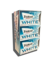 Trident White Wintergreen Sugarless Gum 9Ct Box 16 Pieces Per Pack