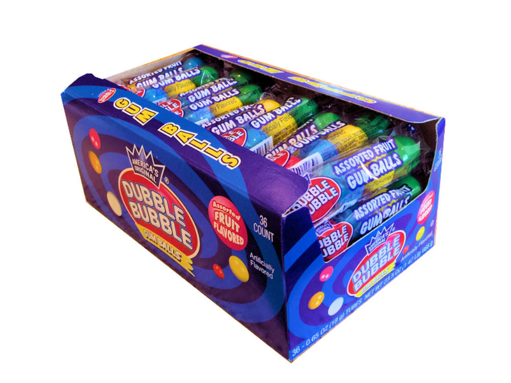 Dubble Bubble GumBalls 36 Count Box - Your Candy Shop - Bulk Candy Store
