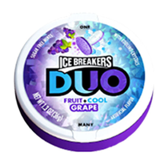 Ice Breakers Duo Mint Grape 8ct
