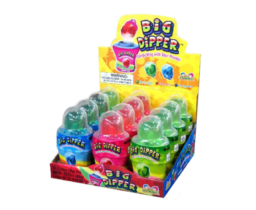 Big Dipper Candy Rings with Sour Powder 12ct
