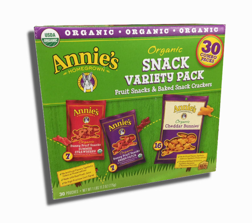 Annie's Organic Fruit and Baked Cheddar Snacks 30ct box