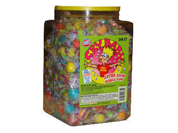 Cry Baby Sour Gum 240 ct Jar - Your Candy Shop - Bulk Candy Store