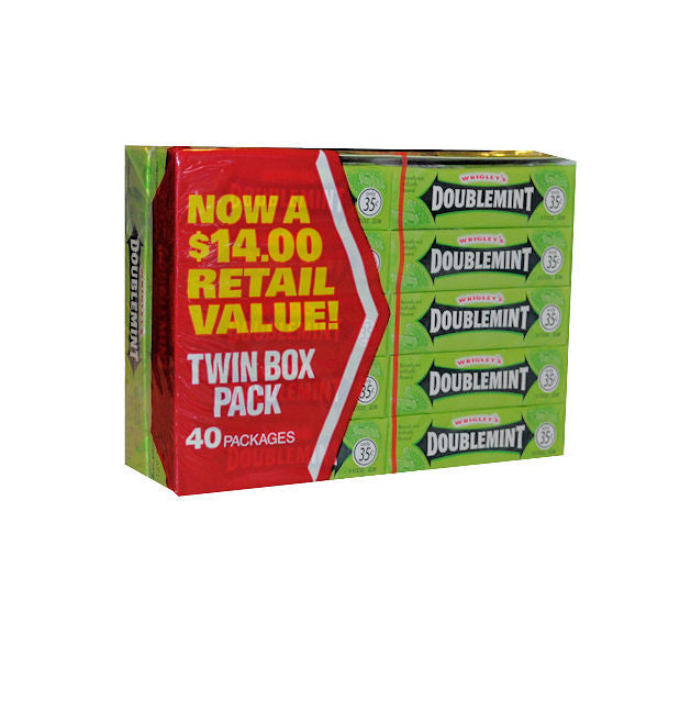Doublemint 40 packs 5 Stick - Your Candy Shop - Bulk Candy Store