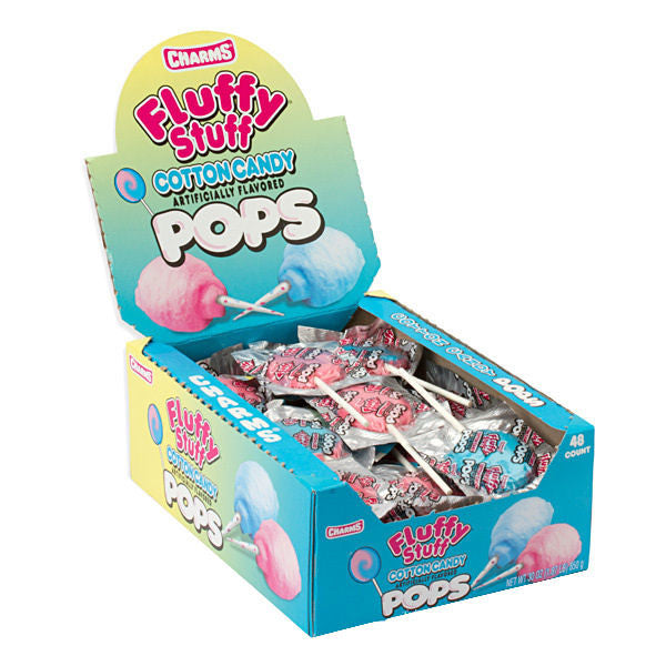 Charms Fluffy Stuff Cotton Candy Pops - Your Candy Shop - Bulk Candy Store