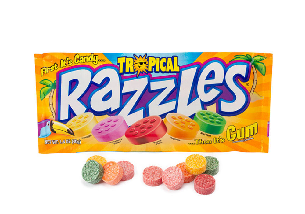 Razzles Tropical 12Ct of 1.4oz Packages
