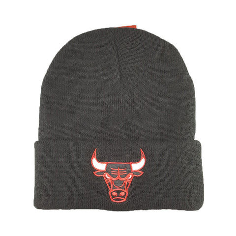 Mitchell & Ness - Core Team Logo Cuff Knit - Chicago Bulls