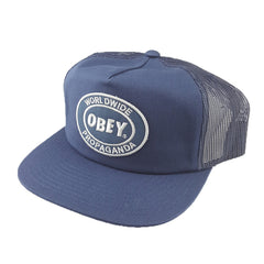 OBEY - Oval Patch Trucker - Navy - Cap City