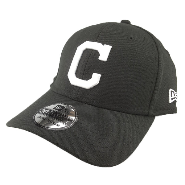 New Era 39Thirty - Black + White - Cleveland Indians