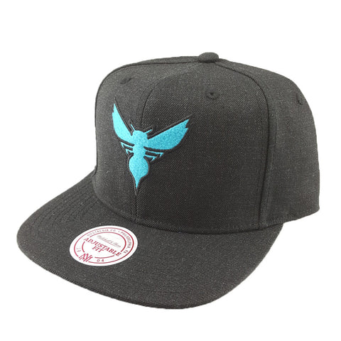 Mitchell & Ness - Heather Snapback - Charlotte Hornets