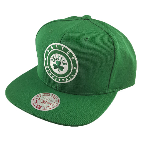 Mitchell & Ness - Twill Circle Patch Snapback - Boston Celtics