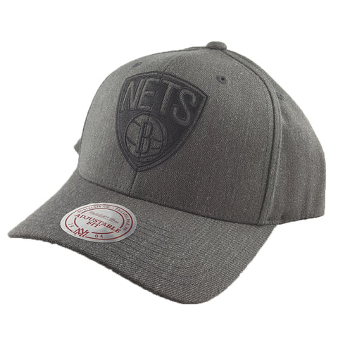 Mitchell & Ness - Charcoal & Cut-Out Team Logo Flex 110 Snapback - Brooklyn Nets