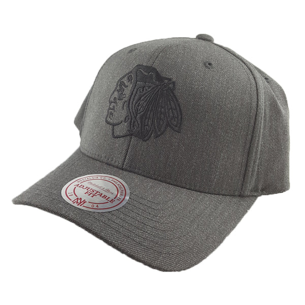 Mitchell & Ness - Charcoal & Cut-Out Team Logo Flex 110 Snapback - Chicago Blackhawks