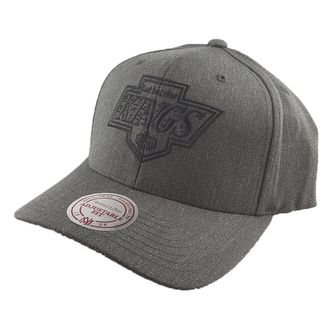 Mitchell & Ness - Charcoal & Cut-Out Team Logo Flex 110 Snapback - Los Angeles Kings