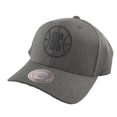 Mitchell & Ness - Charcoal & Cut-Out Team Logo Flex 110 Snapback - Los Angeles Clippers
