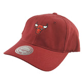 Mitchell & Ness - Washed Cotton Low Pro Cap D-Ring Strapback - Chicago Bulls