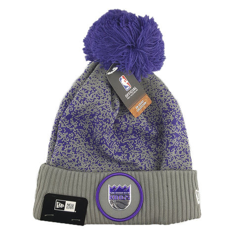 New Era - Official NBA On-Court Collection Pom Cuff Knit - Sacramento Kings