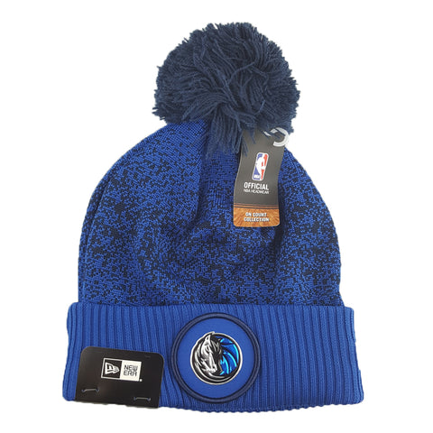 New Era - Official NBA On-Court Collection Pom Cuff Knit - Dallas Mavericks