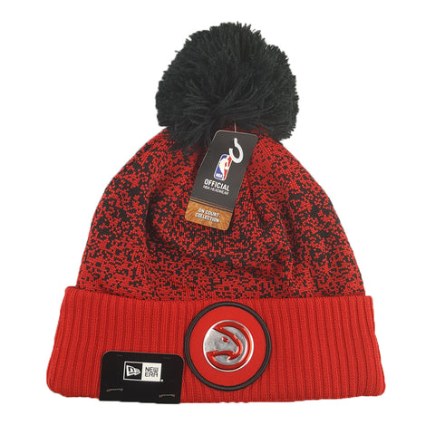 New Era - Official NBA On-Court Collection Pom Cuff Knit - Atlanta Hawks