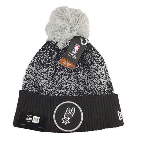 New Era - Official NBA On-Court Collection Pom Cuff Knit - San Antonio Spurs