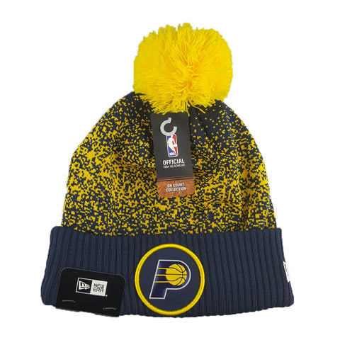 New Era - Official NBA On-Court Collection Pom Cuff Knit - Indiana Pacers