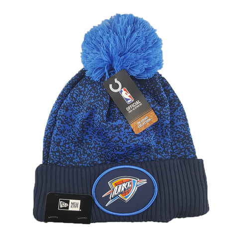 New Era - Official NBA On-Court Collection Pom Cuff Knit - Oklahoma City Thunder