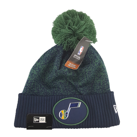 New Era - Official NBA On-Court Collection Pom Cuff Knit - Utah Jazz