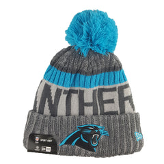 New Era - Official NFL 2017 Sideline Cold Weather Sport Knit Graphite - Carolina Panthers