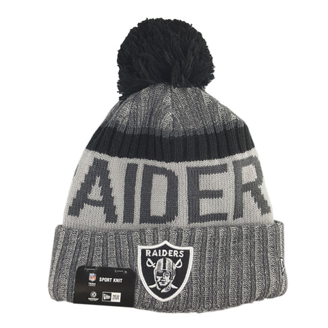 New Era - Official NFL Sideline Cold Weather Sport Knit Graphite - Oakland Raiders