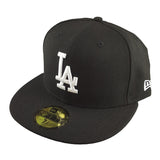 New Era 59Fifty - Black Basics - Los Angeles Dodgers