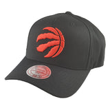 Mitchell & Ness - Black & Team Colour Logo 110 Pinch Panel Snapback - Toronto Raptors